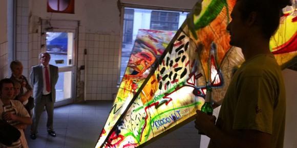 Kunstgruppe Nartour mit einer Ausstellung im ehemaligen Blumenmarkt Osnabrück