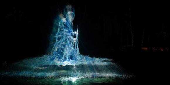 Eyal Gever mit dem Waterdancer auf der lichtsicht